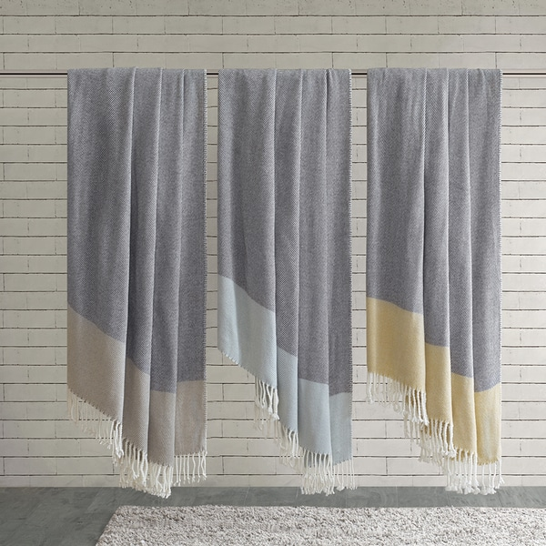 Urban Habitat Zoe Color Block Throw 3-Color Options