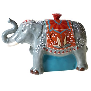 Certified International Ceramic Elephant Cookie Jar