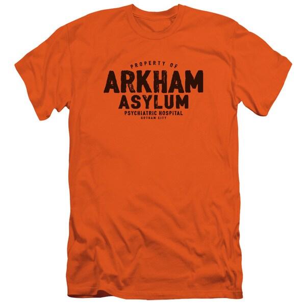 Batman/Arkham Asylum Short Sleeve Adult T-Shirt 30/1 in Orange