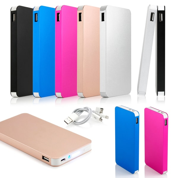 Gearonic 10000mah Ultra Thin Power Bank Backup Battery for Cell Phone