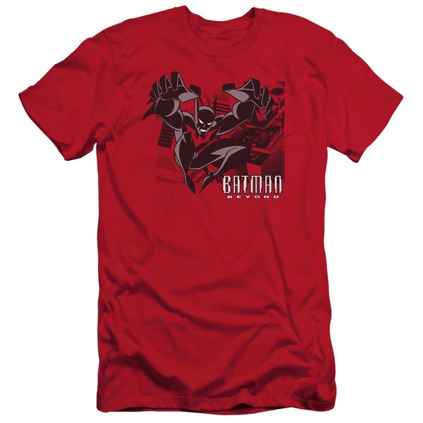 Batman Beyond/City Jump Short Sleeve Adult T-Shirt 30/1 in Red