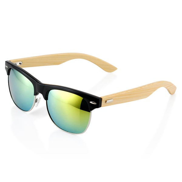 Gearonic Fashion Stylish Half Frame Vintage  Wooden Sunglasses 20139600
