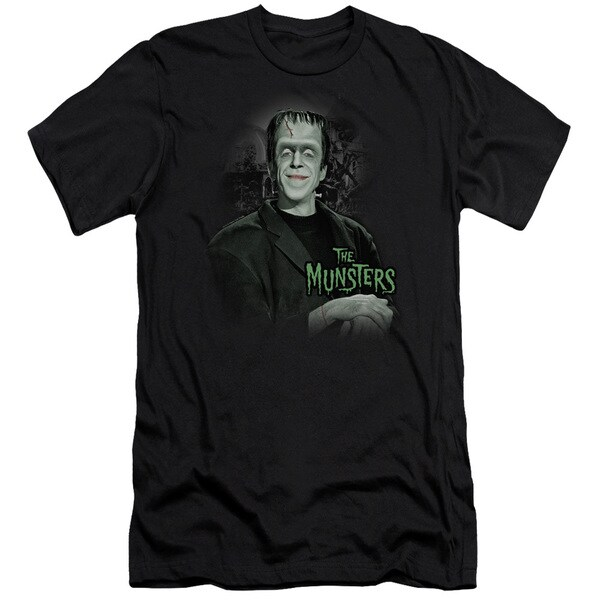 The Munsters/Man Of The House Short Sleeve Adult T-Shirt 30/1 in Black
