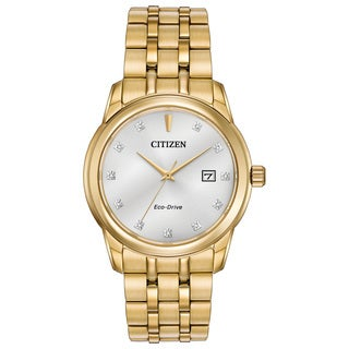 Citizen Eco-Drive Men's Goldtone Over Stainless Steel Watch