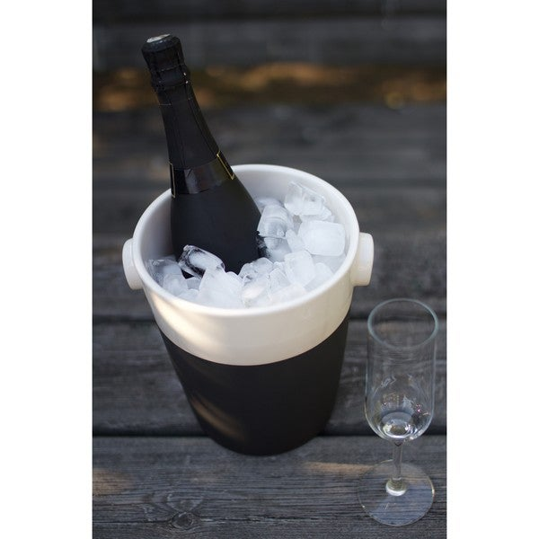 Black Porcelain Champagne Bucket Cooler