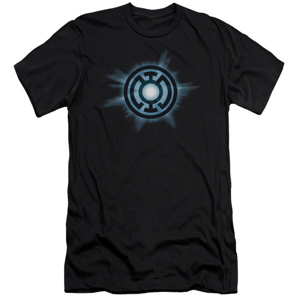 Green Lantern/Blue Glow Short Sleeve Adult T-Shirt 30/1 in Black
