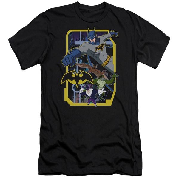 Batman Unlimited/Unlimited Villains Short Sleeve Adult T-Shirt 30/1 in Black