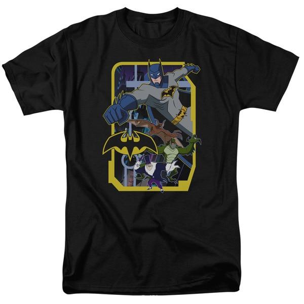 Batman Unlimited/Unlimited Villains Short Sleeve Adult T-Shirt 18/1 in Black
