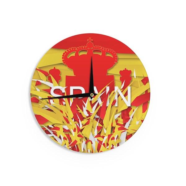 KESS InHouse Danny Ivan 'Spain' World Cup Wall Clock 20140604