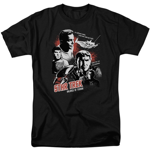 Star Trek/Balance Of Terror Short Sleeve Adult T-Shirt 18/1 in Black