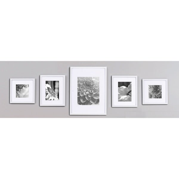 White 5-piece Wall Frame Kit