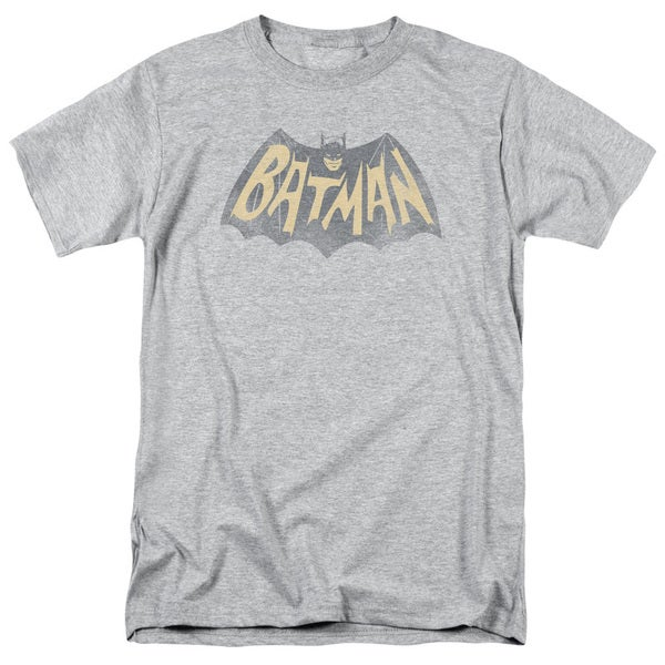 Batman Classic Tv/Show Logo Short Sleeve Adult T-Shirt 18/1 in Athletic Heather