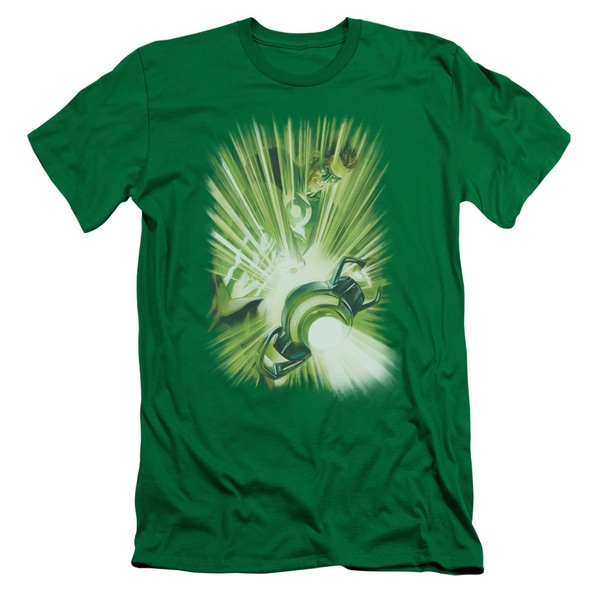 Green Lantern/Lantern's Light Short Sleeve Adult T-Shirt 30/1 in Kelly Green