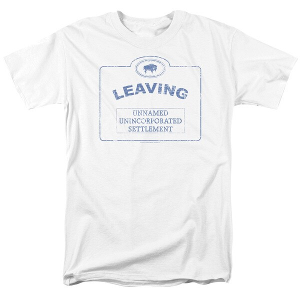 Warehouse 13/Now Leaving Univille Short Sleeve Adult T-Shirt 18/1 in White