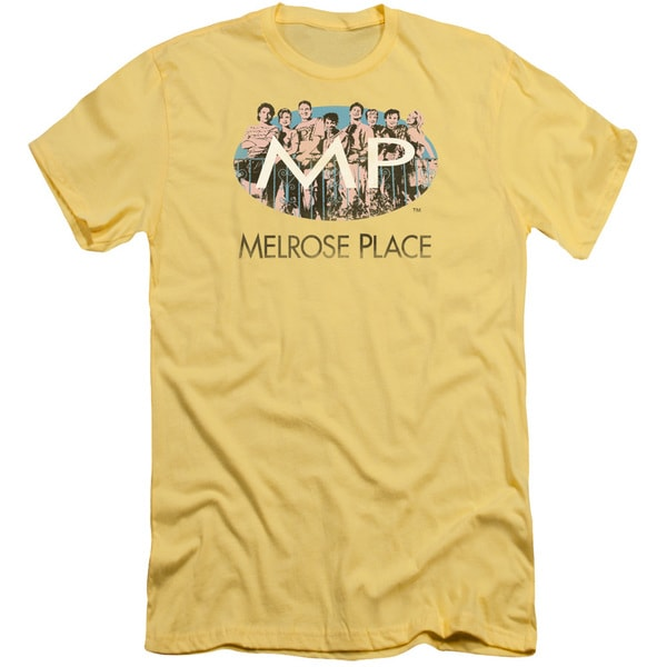 Melrose Place/Meet At The Place Short Sleeve Adult T-Shirt 30/1 in Banana