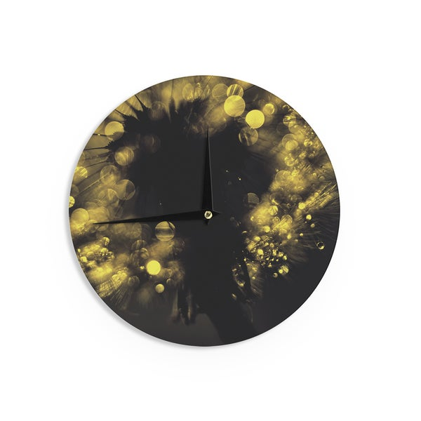 KESS InHouseIngrid Beddoes 'Moonlight Dandelion' Wall Clock