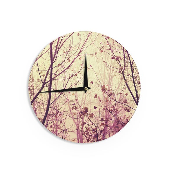 KESS InHouseIngrid Beddoes 'My Secret Garden' Wall Clock