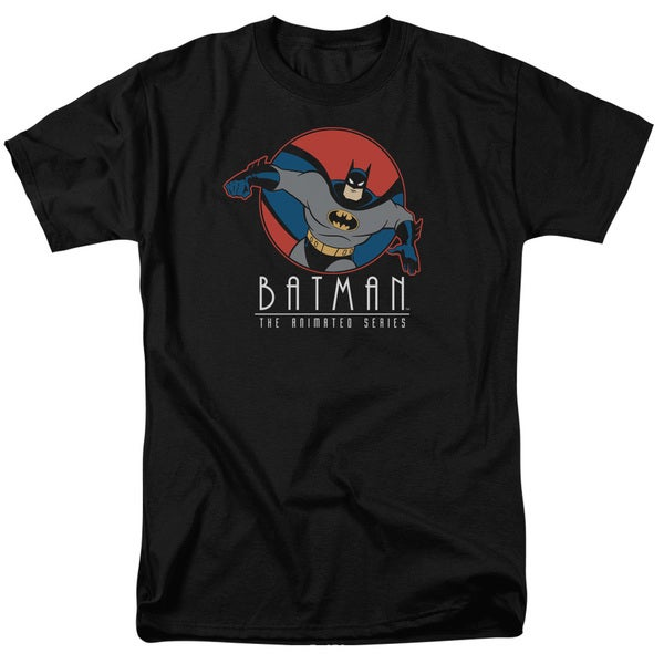 Batman The Animated Series/Punch Out Short Sleeve Adult T-Shirt 18/1 in Black
