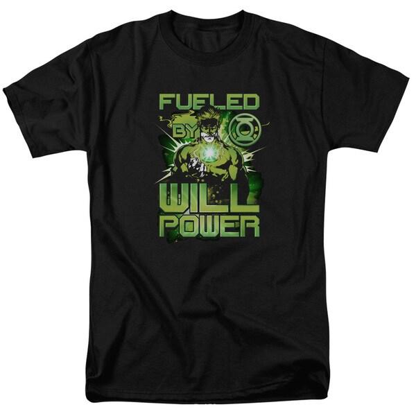 Green Lantern/Fueled Short Sleeve Adult T-Shirt 18/1 in Black