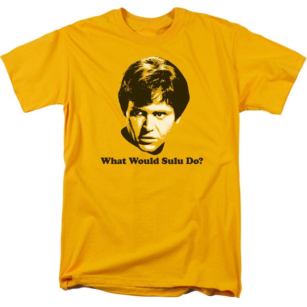 Star Trek/What Would Sulu Do Short Sleeve Adult T-Shirt 18/1 in Gold