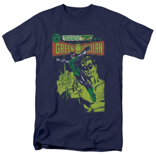 Green Lantern/Vintage Cover Short Sleeve Adult T-Shirt 18/1 in Navy