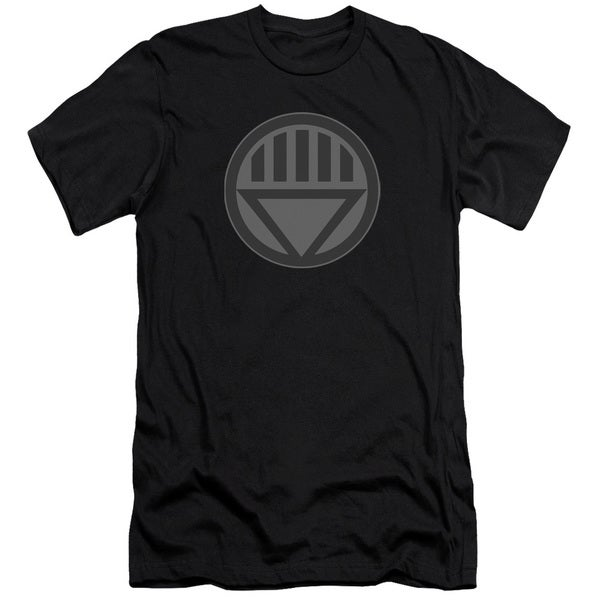 Green Lantern/Black Symbol Short Sleeve Adult T-Shirt 30/1 in Black