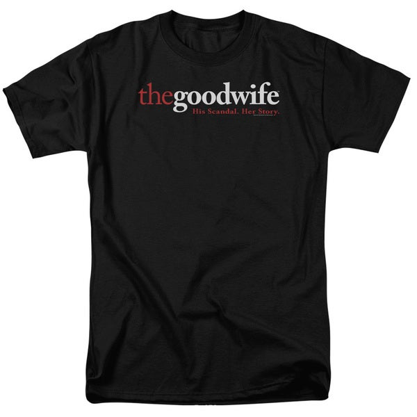 The Good Wife/Logo Short Sleeve Adult T-Shirt 18/1 in Black