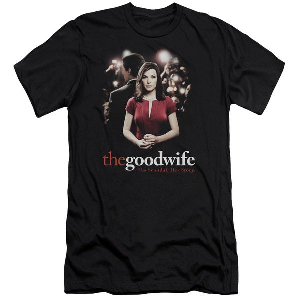 The Good Wife/Bad Press Short Sleeve Adult T-Shirt 30/1 in Black