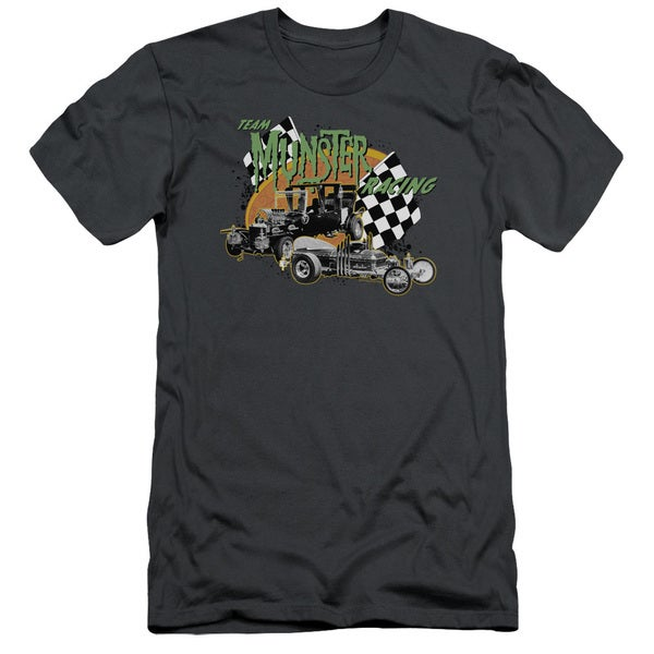 The Munsters/Munster Racing Short Sleeve Adult T-Shirt 30/1 in Charcoal