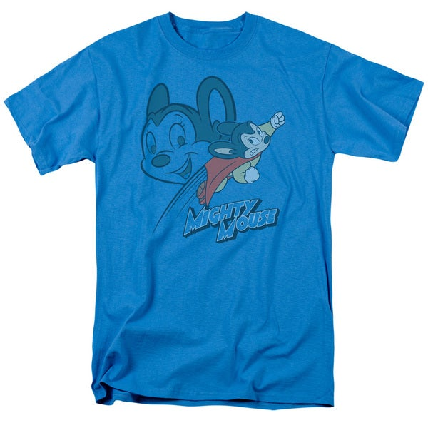 Mighty Mouse/Double Mouse Short Sleeve Adult T-Shirt 18/1 in Turquoise