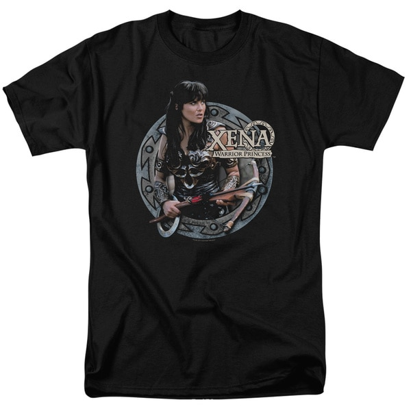 Xena/The Warrior Short Sleeve Adult T-Shirt 18/1 in Black