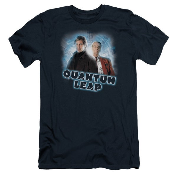 Quantum Leap/Sam & Al Short Sleeve Adult T-Shirt 30/1 in Navy