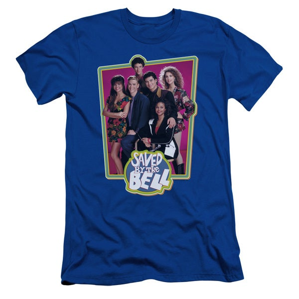 Saved By The Bellong Sleeveaved Case Short Sleeve Adult T-Shirt 30/1 in Royal Blue