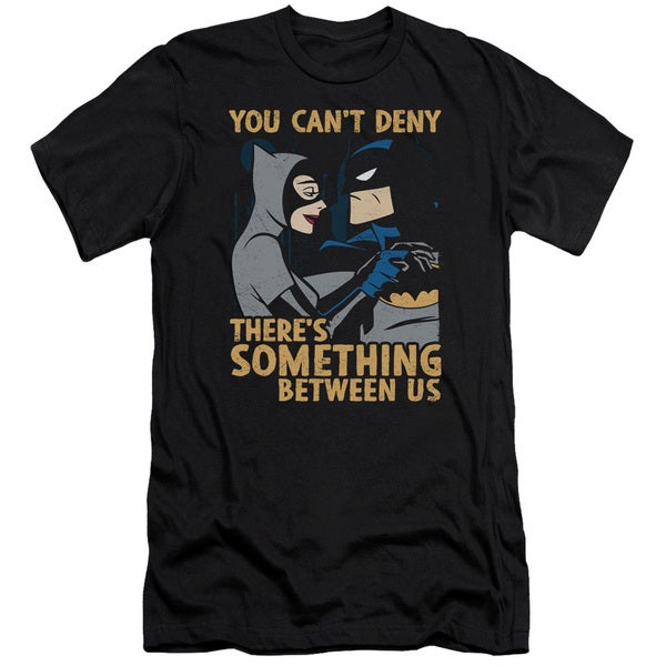 Batman The Animated Series/Between Us Short Sleeve Adult T-Shirt 30/1 in Black