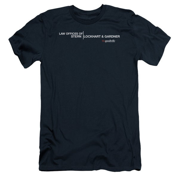 The Good Wife/Law Offices Short Sleeve Adult T-Shirt 30/1 in Navy