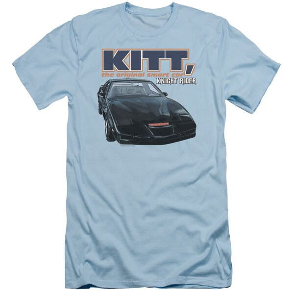 Knight Rider/Original Smart Car Short Sleeve Adult T-Shirt 30/1 in Light Blue