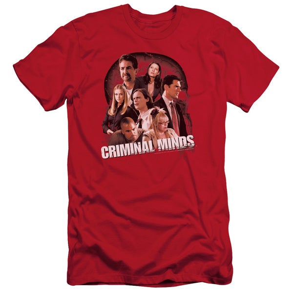 Criminal Minds/Brain Trust Short Sleeve Adult T-Shirt 30/1 in Red