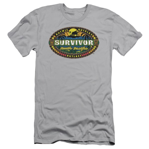 Survivor/South Pacific Short Sleeve Adult T-Shirt 30/1 in Silver
