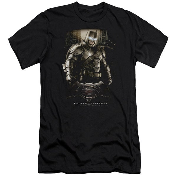 Batman V Superman/Bats Ground Zero Short Sleeve Adult T-Shirt 30/1 in Black