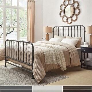 INSPIRE Q Gulliver Vintage Antique Spiral QUEEN Iron Metal Bed