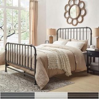INSPIRE Q Gulliver Vintage Antique Spiral FULL Iron Metal Bed
