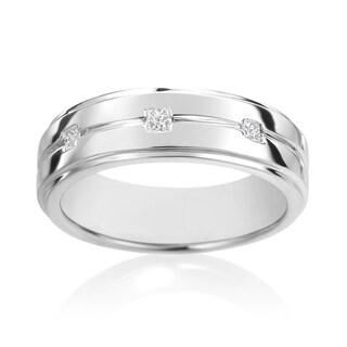 SummerRose, 14k White Gold Diamond Men's Ring 1/7ct TDW (H-I, SI2-I1)