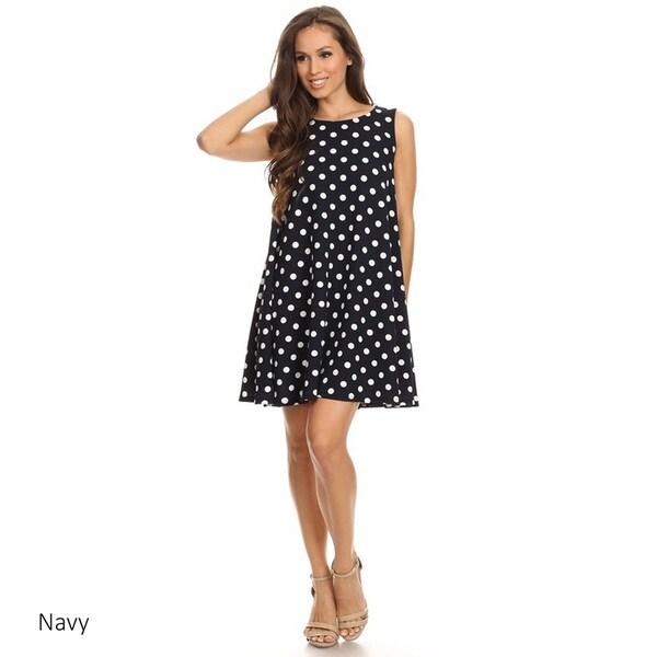 Women's Polka Dot Sleeveless Dress