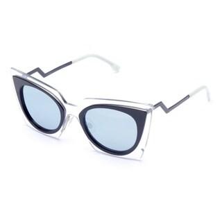 Fendi 0117/S-0IBZ(3J) Cateye Azure Mirror Sunglasses