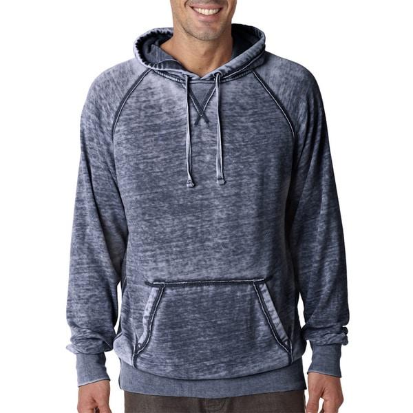 Zen Men's Vintage Navy Fleece Big and Tall Hooded Pullover Sweater