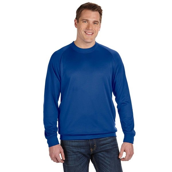 Tech Men's Big and Tall Royal Blue Fleece Crewneck Sweater
