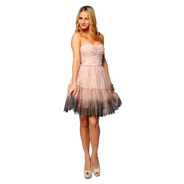 Sara Boo Pink Nylon Tie-dye Sleeveless Dress