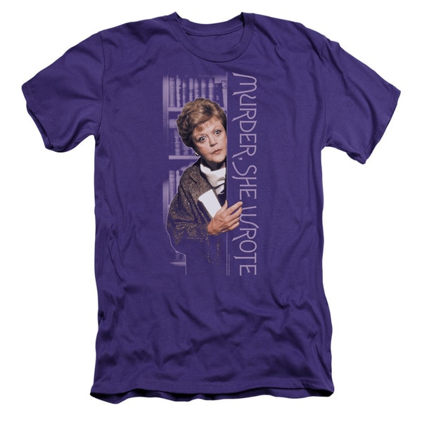 Murder She Wrote/Around The Corner Short Sleeve Adult T-Shirt 30/1 in Purple