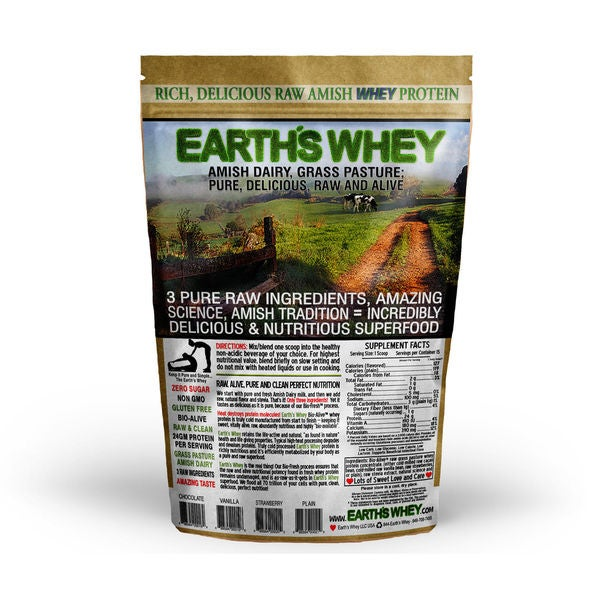 Amish Earth's Whey Protein Grass Fed, Cold Processed, Raw, SUGAR FREE,GMO & Gluten Free