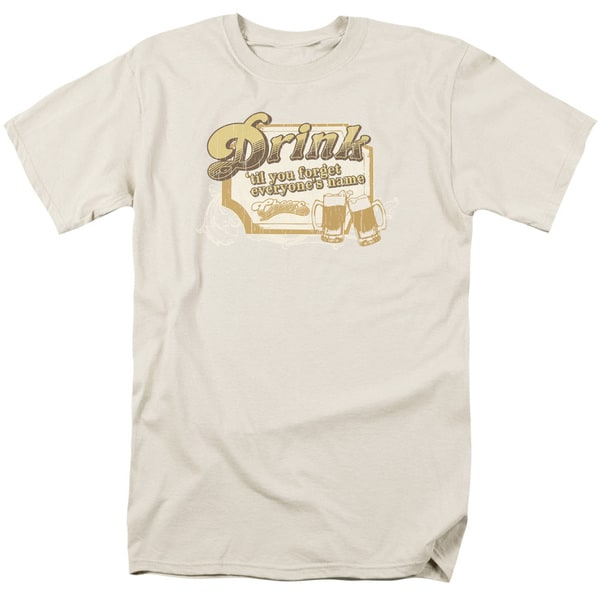 Cheers/Drink To Forget Short Sleeve Adult T-Shirt 18/1 in Sand